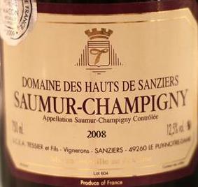 Domaine des Hauts de Sanziers Saumur-Champigny