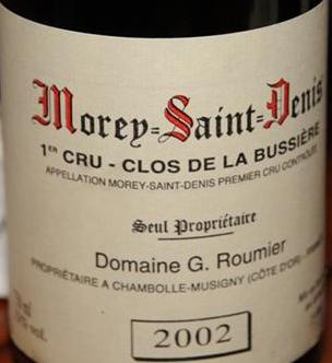 Domaine G.Roumier Morey St Denis 1er Cru