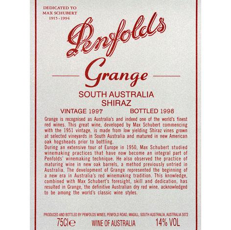 奔富酒园葛兰许南澳设拉子干红葡萄酒 2002