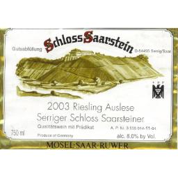 Serriger Schloss Saarsteiner Riesling Auslese 2003