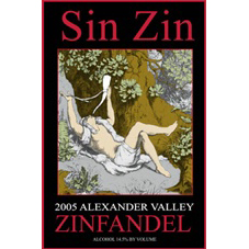 Alexander Valley Vineyards Zinfandel Sin Zin 2005