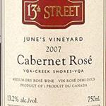 13th Street Cabernet Rosé June's Vineyard 2007