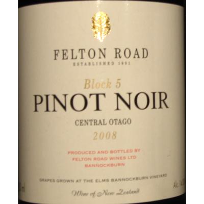 Felton Road Pinot Noir Block 5 2008