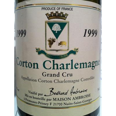 Maison Bertrand Ambroise Corton Charlemagne GC1999