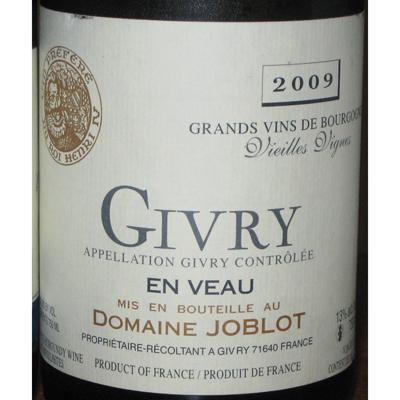 喝过domaine joblot givry en veau vieilles vignes blanc 2009的