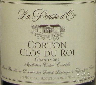 La Pousse d'Or Corton-Clos du Roi 2009