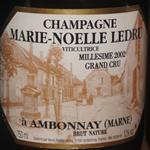 Marie-Noelle Ledru Champagne Grand Cru 2002 a Ambonnay