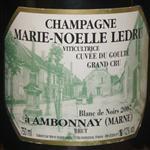 Marie-Noelle Ledru Champagne Grand Cru Blanc de Noirs 2007 a Ambonnay
