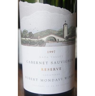 蒙大菲酒园 纳帕谷Caberet Sauvignon Reserve 1997