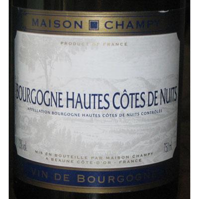 香皮勃艮第上夜丘红葡萄酒2007