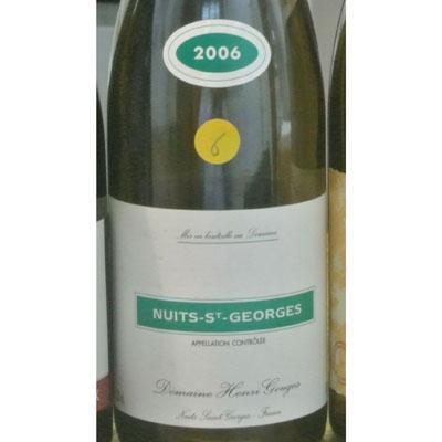 亨利古歌庄园夜圣乔治干红葡萄酒2006