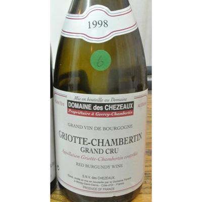 Domaine des Chezeaux Griottes-Chambertin Ponsot 1998