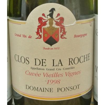 Domaine Ponsot Clos de la Roche Vieilles Vignes 1998