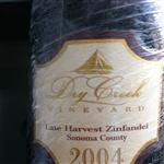 Dry Creek vineyard late harvest Zinfandel 2004
