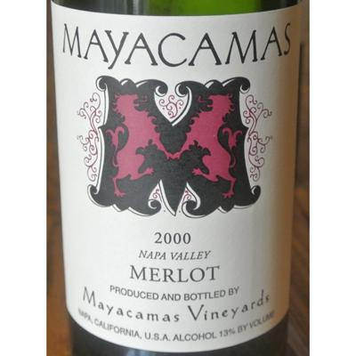 Mayacamas Vineyards Merlot Napa Valley 2000