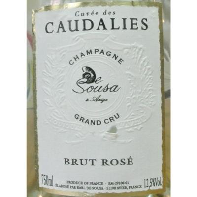 德索萨香槟Grand cru Cuvée des caudalies Rosé NV