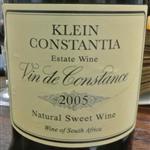 Klein Constantia Vin de Constance Natural Sweet Wine 2005