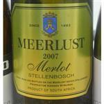 Meerlust Merlot 2007