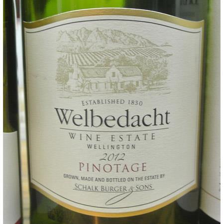 Schalk Burger & Sons Welbedacht Pinotage 2012