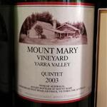 Mount Mary Vineyard Quintet Yarra Valley 2003