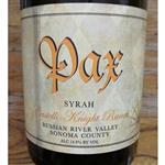 PAX Syrah Castelli-Knight Ranch Russian River Valley 2011