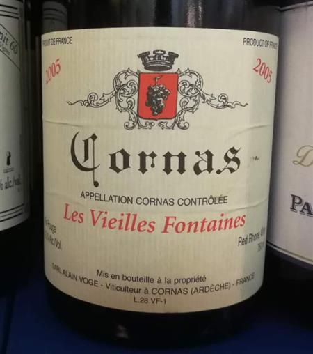 Domaine Alain Voge Cornas Les Vieilles Fontaines 2005