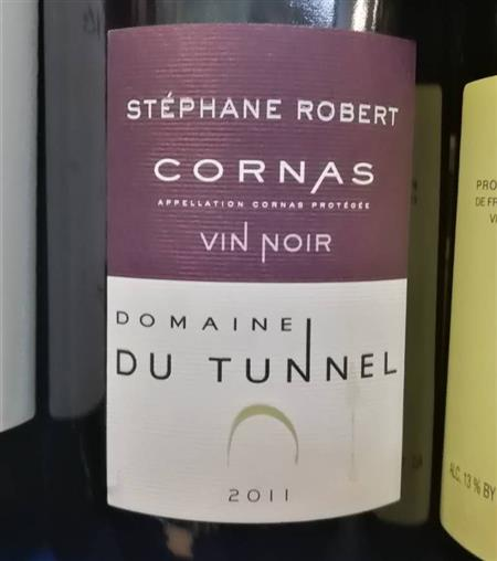 Stephane Robert Domaine du Tunnel Cornas Vin Noir 2011