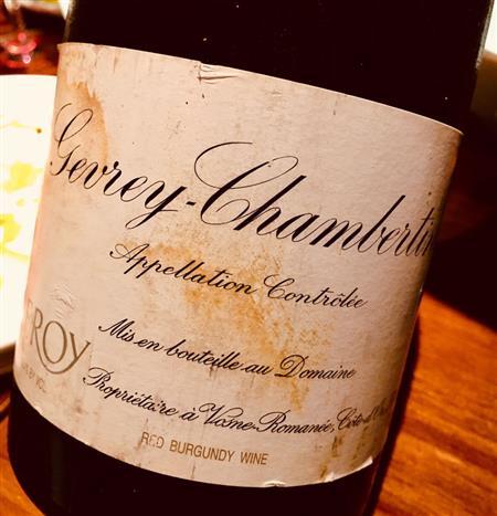 Domaine Leroy Gevrey-Chambertin 2004